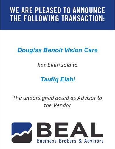 Douglas Benoit Vision Care