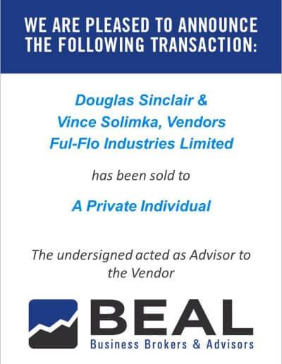Douglas Sinclair & Vince Solimka, Vendors Ful-Flo Industries Limited