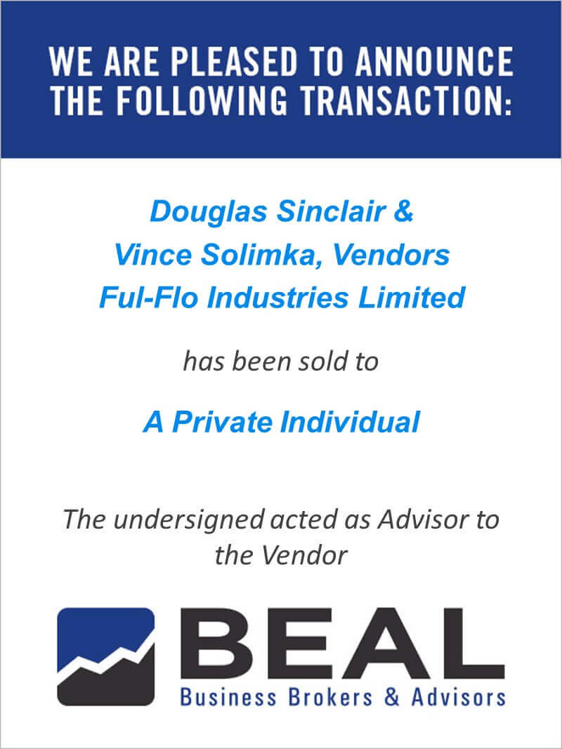Douglas Sinclair & Vince Solimka, Vendors Ful-Flo Industries Limited