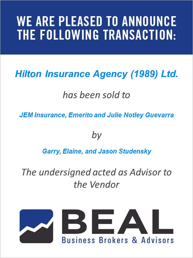 Hilton Insurance Agency (1989) Ltd.