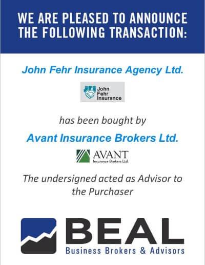 John Fehr Insurance Agency Ltd.