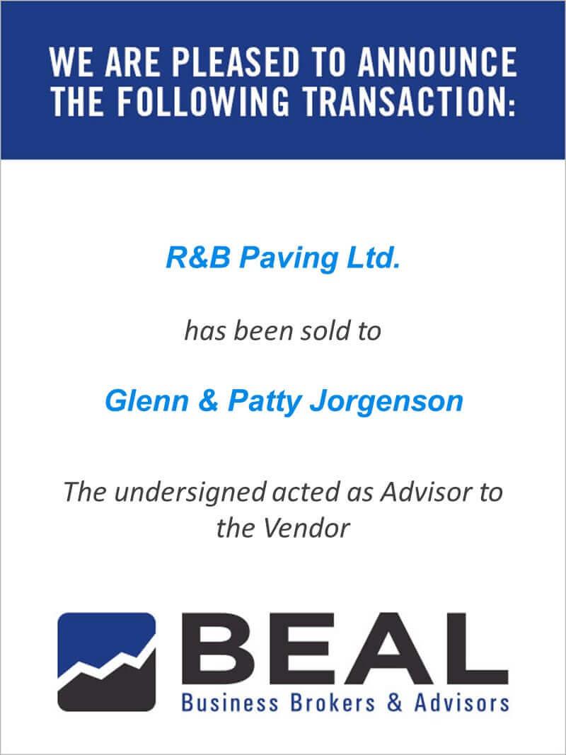 R and B Paving Ltd.