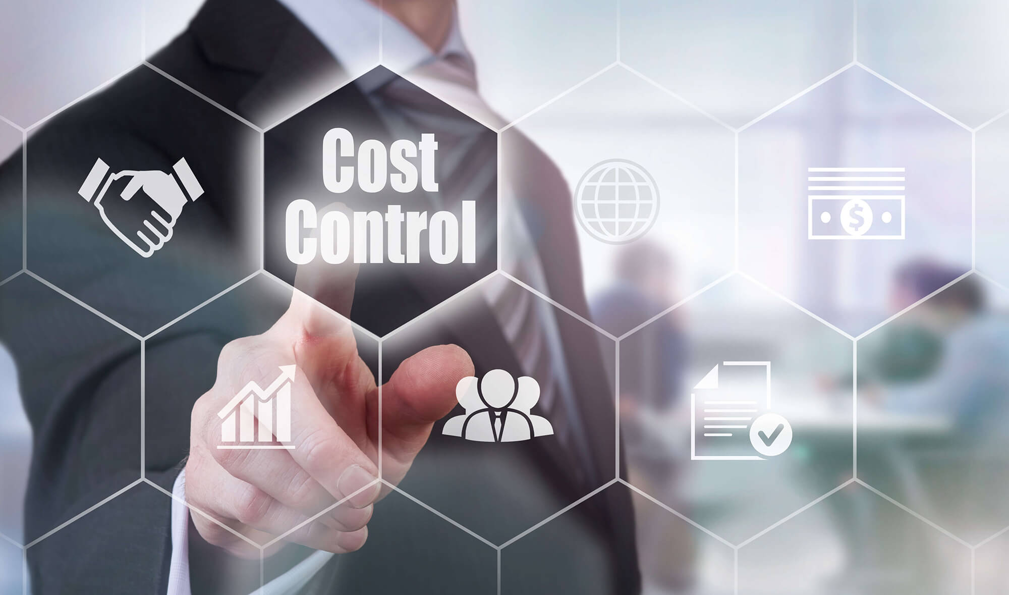 A business person choosing the Cost Control option